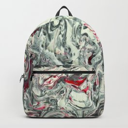 PURO PLATA CON ROJO (Pure Silver with Red) Backpack