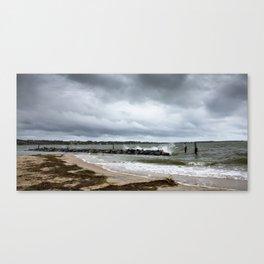 Yorktown Beach post Florence 2 Canvas Print