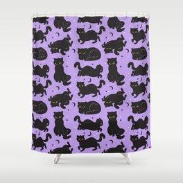 Little Black Cats Shower Curtain