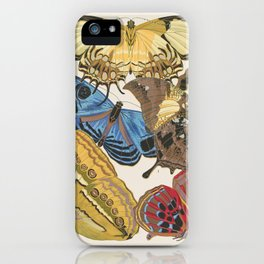 Butterfly and Moth Print by E.A. Seguy, 1925 #13 iPhone Case