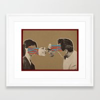 kiss Framed Art Prints featuring Kiss by Canson City