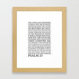 Psalm 23 The Lord Framed Art Print