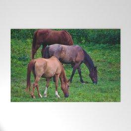 Grazing Horses Welcome Mat