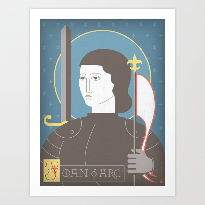 Joan of Arc Portrait Art Print