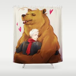 APH: 2pBear hug Shower Curtain