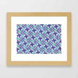 Teal and Purple Stars Framed Art Print