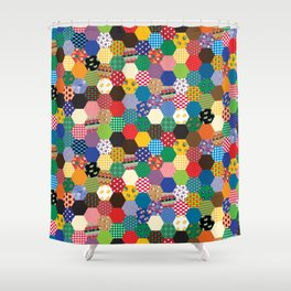 Hexagonal Patchwork Shower Curtain