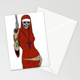Skull nun Stationery Cards