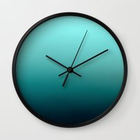 gradient Wall Clocks featuring gradient by s3tok41b4