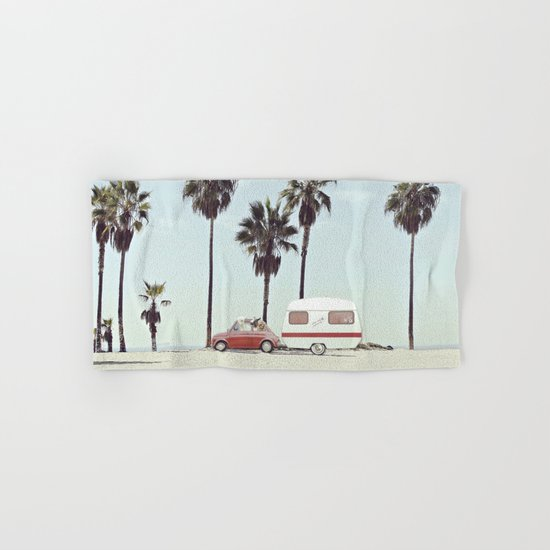 NEVER STOP EXPLORING - CAMPING PALM BEACH Hand & Bath Towel