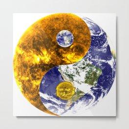 Design yin yang balance sun earth Metal Print