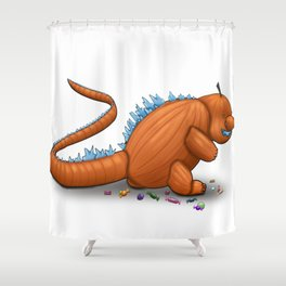 Pumpkinzilla Shower Curtain