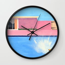 Splash! after David Hockney Wall Clock
