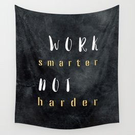 Work smarter not harder #motivationialquote Wall Tapestry