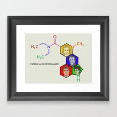 Lysergic Acid Diethylamide Framed Art Print