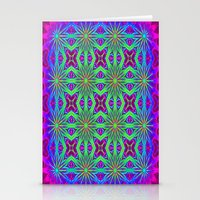 psychedelic Stationery Cards featuring PSYCHEDELIC flowers by 2sweet4words Designs