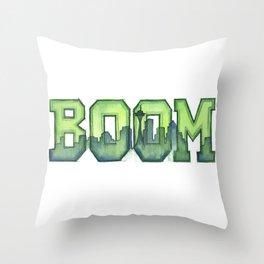 Legion of Boom Seattle 12th Man Art Throw Pillow