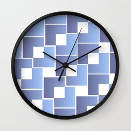 Blue Interlace Wall Clock