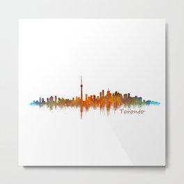 Toronto Canada City Skyline Hq v02 Metal Print