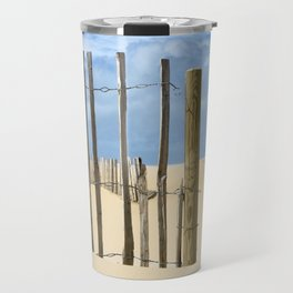 Fence in the sand Travel Mug
