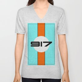 917 Gulf Racing Design Unisex V-Neck