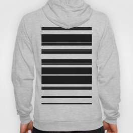 Black And White Stripes Hoody