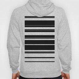 Black And White Stripes Hoody