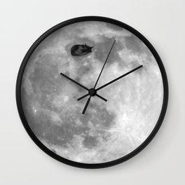 Cat on the Moon Wall Clock