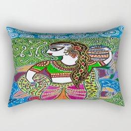 The Indian Fisher Woman Rectangular Pillow