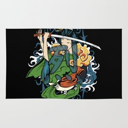 Fierce Warrior Rug