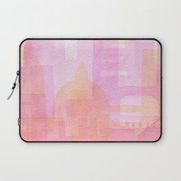 Pink and golden city watercolor Laptop Sleeve