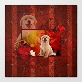 Sweet golden retriever Canvas Print