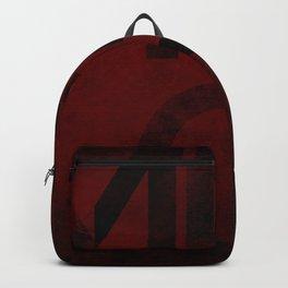 Merlot Wine Typography Backpack