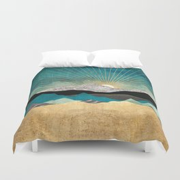 Peacock Vista Duvet Cover