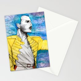 Queen F. Mercury Watercolor Portrait Stationery Cards