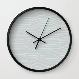 DISCONNECTED STRIPES Wall Clock