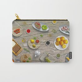 Lets Get Together And Make A Delicious Lunch Carry-All Pouch
