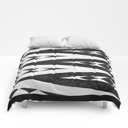 Tribal pattern in black and white. Comforters