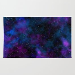 Space beautiful galaxy starry night image Rug