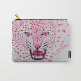 Watercolour Fuchsia Leopard Carry-All Pouch