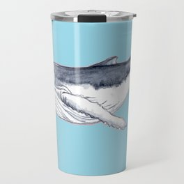 Baby humpback whale blue for boys and baby room Travel Mug