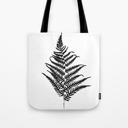 Fern silhouette. Isolated on white background Tote Bag