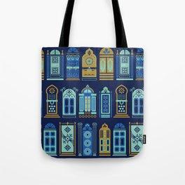 Moroccan Doors – Navy Palette Tote Bag