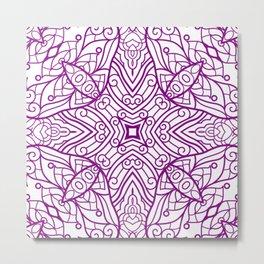 Mindful Mandala Pattern Tile MAPATI 82 Metal Print