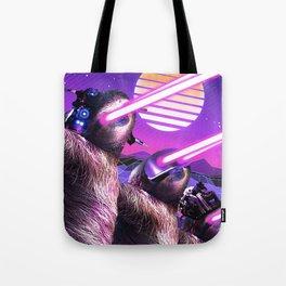 Funny Weird Laser Eyes Sloth Tote Bag