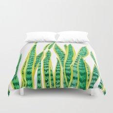 snake plant Duvet Cover