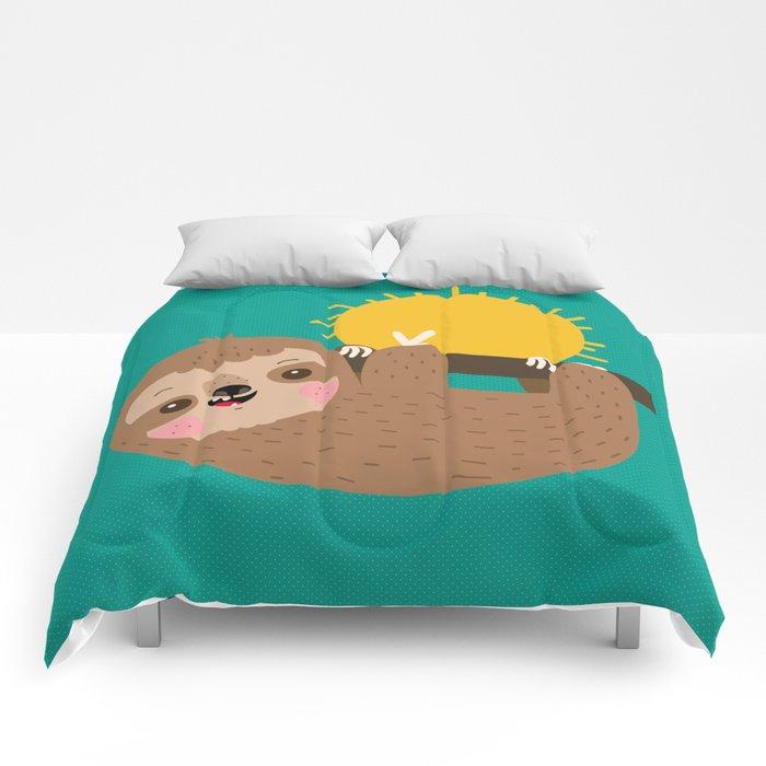 Happy Sloth Comforters