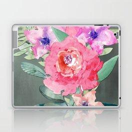 Watercolor Lily Cascade Still Life Laptop & iPad Skin