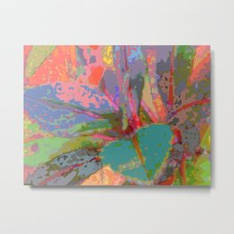 Leaf Pattern Abstract Metal Print