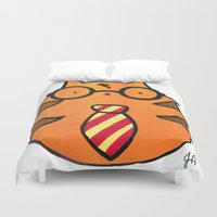 potter Duvet Covers featuring Kitty Potter  by JessicaAndersonArt